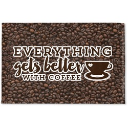 Coffee Addict Woven Mat (Personalized)