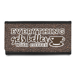 Coffee Addict Leatherette Ladies Wallet (Personalized)