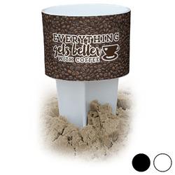 Coffee Addict Beach Spiker Drink Holder (Personalized)