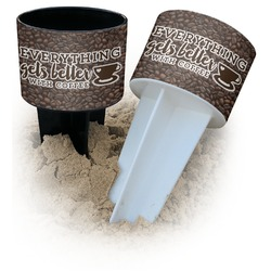 Coffee Addict Beach Spiker Drink Holder (Personalized)