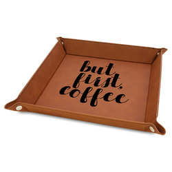 Coffee Addict Faux Leather Valet Tray