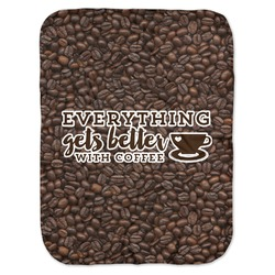 Coffee Addict Baby Swaddling Blanket (Personalized)