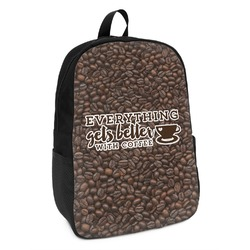 Coffee Addict Kids Backpack (Personalized)