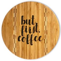 Coffee Addict Bamboo Cutting Board