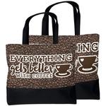 Coffee Addict Beach Tote Bag (Personalized)