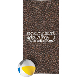Coffee Addict Beach Towel (Personalized)