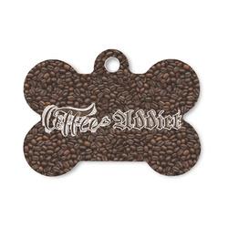 Coffee Addict Bone Shaped Dog Tag (Personalized)