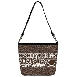 Coffee Addict Bucket Bag w/ Genuine Leather Trim (Personalized)