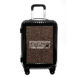 Coffee Addict Carry On Hard Shell Suitcase (Personalized)