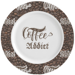 Coffee Addict Ceramic Dinner Plates (Set of 4) (Personalized)