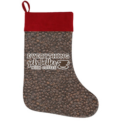 Coffee Addict Holiday / Christmas Stocking (Personalized)