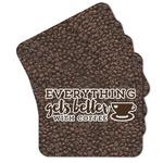Coffee Addict Cork Coaster - Set of 4