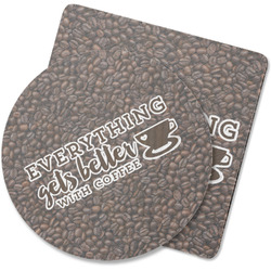 Coffee Addict Rubber Backed Coaster (Personalized)