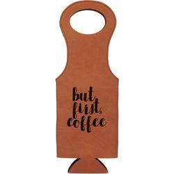 Coffee Addict Leatherette Wine Tote (Personalized)