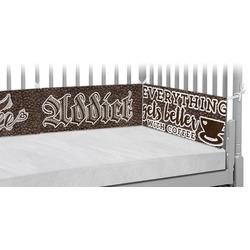 Coffee Addict Crib Bumper Pads (Personalized)