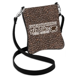 Coffee Addict Cross Body Bag - 2 Sizes (Personalized)