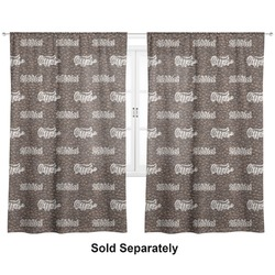 "Coffee Addict Curtains - 20""x63"" Panels - Lined (2 Panels Per Set) (Personalized)"