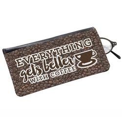 Coffee Addict Genuine Leather Eyeglass Case (Personalized)