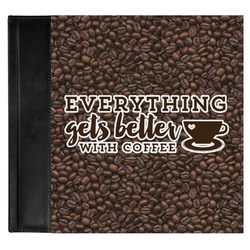 Coffee Addict Genuine Leather Baby Memory Book (Personalized)