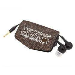 Coffee Addict Genuine Leather Cord Wrap (Personalized)