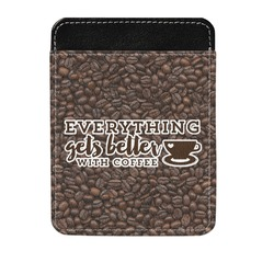 Coffee Addict Genuine Leather Money Clip (Personalized)