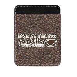 Coffee Addict Genuine Leather Money Clip (Personalized)