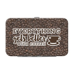 Coffee Addict Genuine Leather Small Framed Wallet (Personalized)