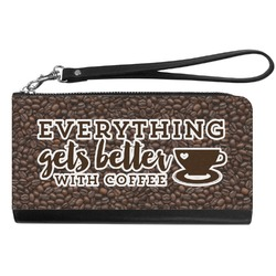 Coffee Addict Genuine Leather Smartphone Wrist Wallet (Personalized)