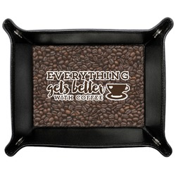 Coffee Addict Genuine Leather Valet Tray (Personalized)