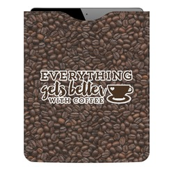 Coffee Addict Genuine Leather iPad Sleeve (Personalized)
