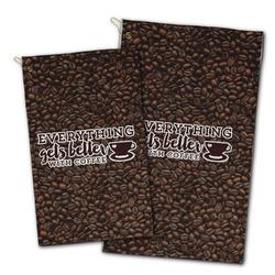 Coffee Addict Golf Towel - Full Print