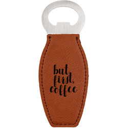 Coffee Addict Leatherette Bottle Opener (Personalized)