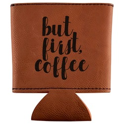 Coffee Addict Leatherette Can Sleeve (Personalized)