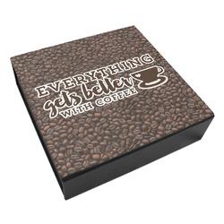 Coffee Addict Leatherette Keepsake Box - 8x8 (Personalized)