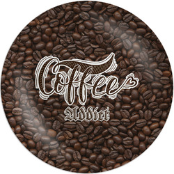 Coffee Addict Melamine Plate (Personalized)