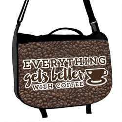 Coffee Addict Messenger Bag (Personalized)