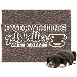 Coffee Addict Minky Dog Blanket (Personalized)