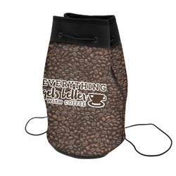 Coffee Addict Neoprene Drawstring Backpack (Personalized)