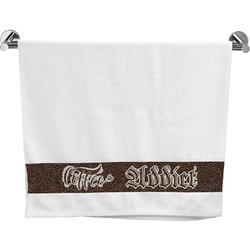 Coffee Addict Bath Towel (Personalized)
