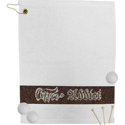 Coffee Addict Golf Towel (Personalized)