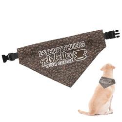 Coffee Addict Dog Bandana (Personalized)