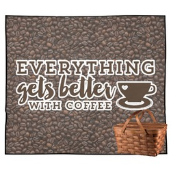 Coffee Addict Outdoor Picnic Blanket (Personalized)