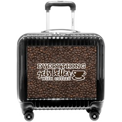 Coffee Addict Pilot / Flight Suitcase (Personalized)