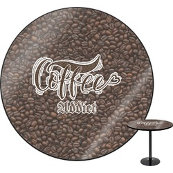 Coffee Addict Round Table (Personalized)