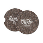 Coffee Addict Sandstone Car Coasters (Personalized)