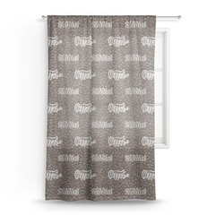 Coffee Addict Sheer Curtains (Personalized)