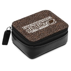 Coffee Addict Small Leatherette Travel Pill Case (Personalized)