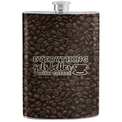 Coffee Addict Stainless Steel Flask (Personalized)