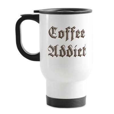Coffee Addict Stainless Steel Travel Mug with Handle