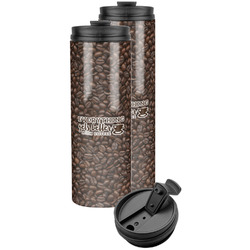Coffee Addict Stainless Steel Skinny Tumbler
